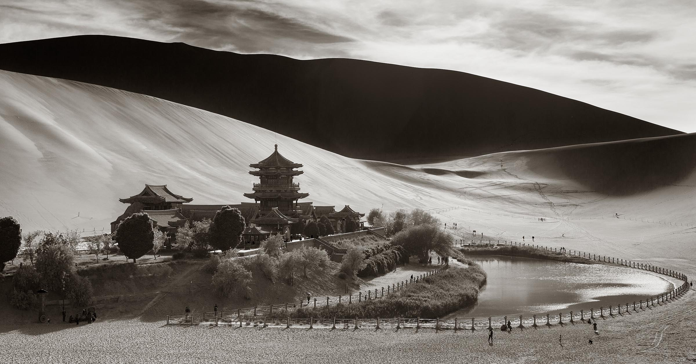 An oasis in Donhuan, China known as Crescent Lake.